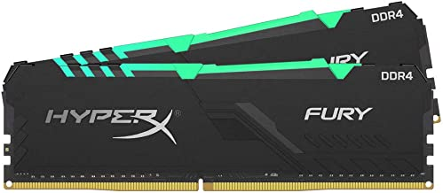 HyperX Fury 16GB 3200MHz DDR4 CL16 DIMM (Kit of 2) 1Rx8  RGB XMP Desktop Memory HX432C16FB3AK2/16