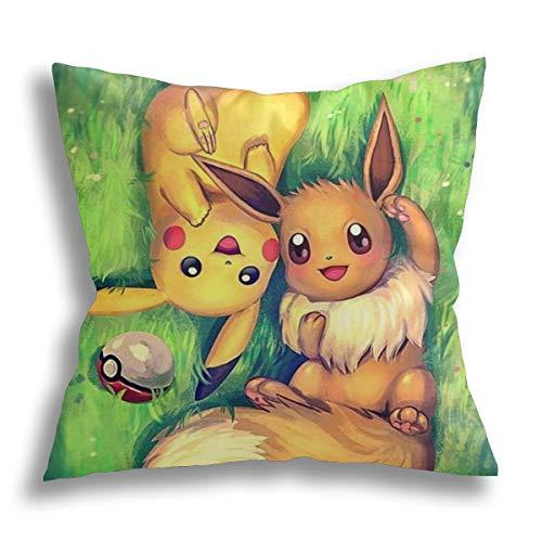 Pokemon Pikachu Custom Throw Pillow Cover,Personalizzato Decor Federe Cuscino,Matrimonio Memoriale Tiro Cuscino,Regalo di compleanno