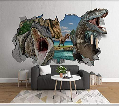 Modern 3D Stereo Wall Dinosaur Children's Room Wallpaper Mural,Living Room Bedroom Wall Papers Home Decor 300(L) x200(H) cm