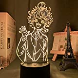 Manga The Promised Neverland Emma Veilleuse LED 3D pour chambre d'enfant