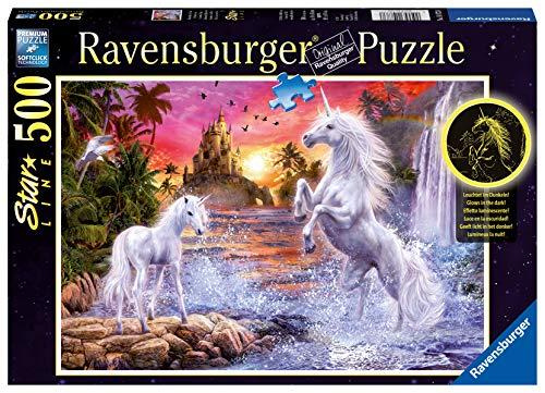 Ravensburger 14873 - Unicorni al Fiume, 500 Pezzi