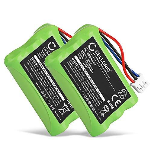 CELLONIC 2X Batteria Premium Compatibile con Bang & Olufsen BEOCOM 6000 (700mAh) 3HR-AAAU,70AAAH3BMXZ,T373 Batteria di Ricambio, accu Sostituzione, sostituto