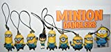 Despicable Me Minions Movie Party Favors Toy Set of 8 with Agnes the Unicorn Girl, One Eyed Stuart, Bob, Kevin and More Special Dangler Set!