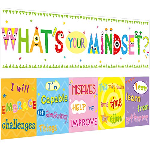 Classroom Banner What is Your Mindset Banners for Home School Classroom Bulletin Board Decoration