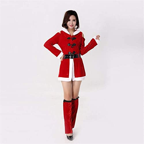 bajo precio del 40% CVCCV 2018 Material de Terciopelo Dorado Traje de Navidad Traje Traje Traje de Navidad Discoteca Bar Trajes de Fiesta DS Ropa de mujer (rojo)  productos creativos