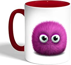 Printed Coffee Mug, Red Color, Colorful Monster