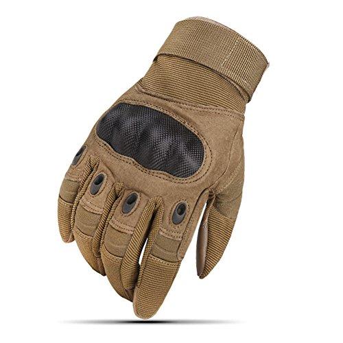 Surenhap Guantes Moto, Guantes de Pantalla Táctil Duro Transpirables y Resistentes al Desgaste para los Deportes al Aire Libre, Caza, Ciclismo, Motos, Deporte Ejercicio
