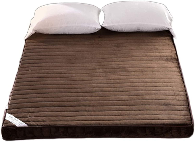 Comfort Flannel Cover Mattress, Microfiber Comfort Thick Folding Mattress Ergonomic Design Anti-mite-B 100x200cm H 6cm