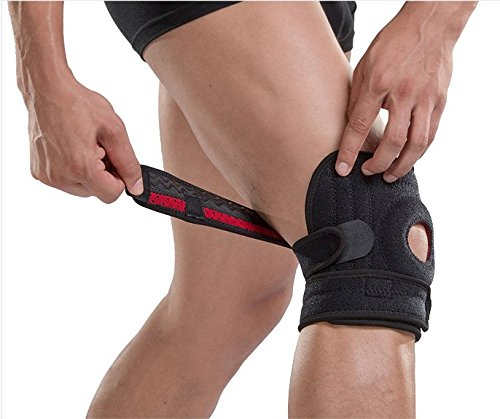 PintoMed Einstellbare Neopren Kniebandage. Mit Kniescheibe stabilisierendes gummipolster für arthritische Schmerzen Meniskus verletzungen Sportverletzungen rehabilitation schutz vor neue Verletzungen
