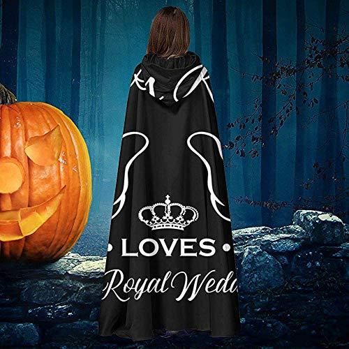 Not Applicable Hexen Mantel,Harry Und Meghan Dieses Kind Liebt Eine Königliche Hochzeit. Dekorative Hexenumhänge Für Hexenzauberer-Kostüme 40x150cm