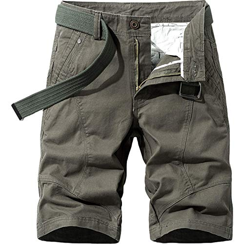 Pantalón de chándal de Moda para Hombre, Trabajo al Aire Libre, Verano, Retro, Color sólido, Fino, Transpirable, Pantalones Cortos Casuales, Pantalones Cargo, con Bolsillo 32