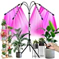 """Full Spectrum LED Grow Light for Indoor Plants with 60"""" Extendable Tripod Stand, Upgraded Plant Growing Lamps with Remote Controll, 3 Modes, 9 Dimmable Level, 4/8/12H Auto ON/Off Timming"""
