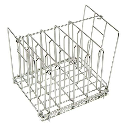 Houseables Sous Vide Rack, Food Holder Weight, 9 x 7 Inch, Stainless Steel, 5 Dividers, Fits 12 Quart Container, Even Heating Accessories, Holding Grid, No Float Top Bar, Collapsible (Rack Only)