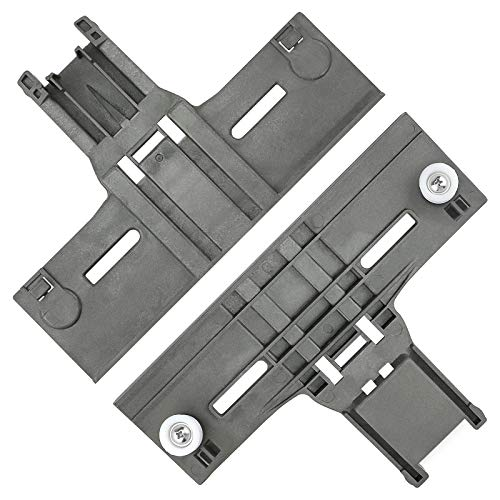 AMI PARTS Upgraded W10350376 Dishwasher Top Rack Adjuster W/ 0.9 In Diameter Wheels Compatible with Dishwasher Upper Rack Dishrack Adjuster (2 PACK)