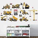 FGHHT Truck Digger DIY Transport Auto Wandaufkleber für Kinderzimmer Schule...