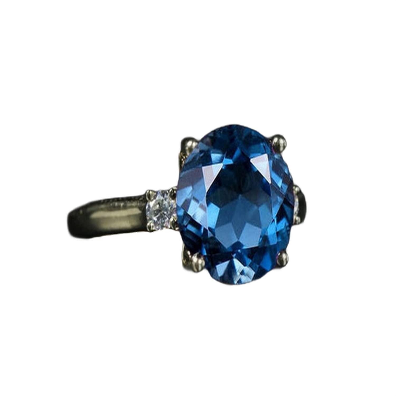 specialty shop London Blue Topaz Ring St Engagement Vintage 925