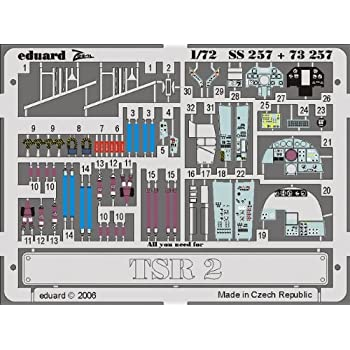 # SS257 Eduard 1//72 TSR-2 PRE-PAINTED IN COLOUR