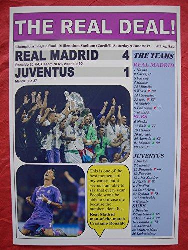 Lilywhite Multimedia Real Madrid 4 Juventus 1-2017 Finale de