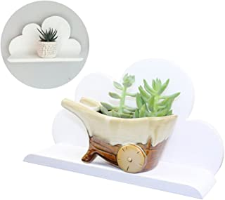 Lemo handmade -white Wooden cloud shelf decorative HD14