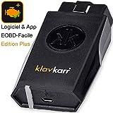klavkarr 210 - Valise de Diagnostic Auto Multimarque OBD2 Bluetooth - 100% Français - Prise OBD Diagnostique Voiture Diesel & Essence sur iPhone/Android