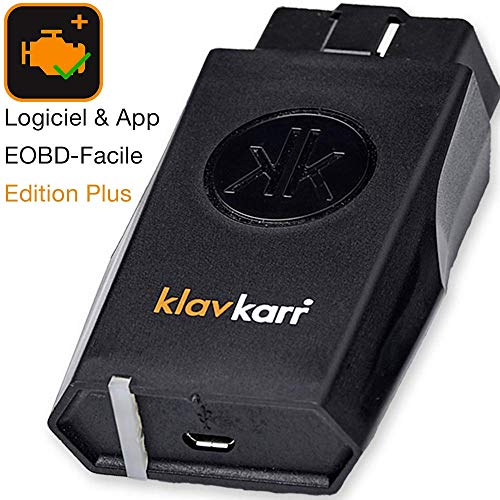 klavkarr 210 - Valise de Diagnostic Auto Multimarque OBD2 Bluetooth - 100% Français - Prise OBD Diagnostique Voiture Diesel & Essence sur iPhone/Android