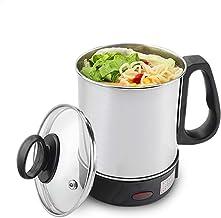 YYR Hot Pot électrique Mini, 1.4L Bouilloire électrique Multifonction w/Surchauffe et Faire bouillir la Protection Sec, po...