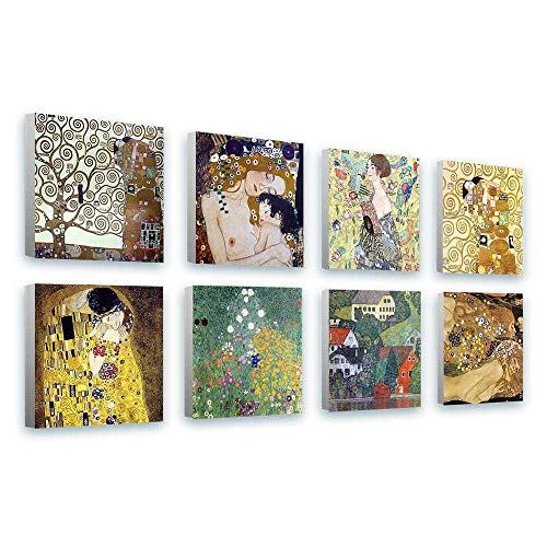 in various sizes The Kiss by Gustav Klimt Giclee Canvas Print