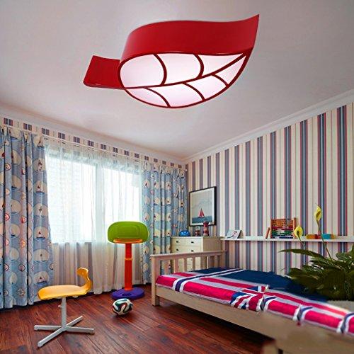 Lily's-uk Love Lumières de la personnalité salle de plafond pour les enfants lumière simple mode conduit lumière de la chambre créativité de dessin animé de la maternelle lumières du parc d'attractions - rouge