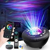 LED Sternenhimmel Projektor Kinder, Smart Star Projector Galaxy Light Sternenlicht Nachtlicht Lampe mit Timer/Bluetooth Lautsprecher/Sprachsteuerung von Alexa & Google für Kinder Erwachsene