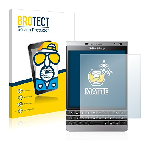 BROTECT 2X Entspiegelungs-Schutzfolie kompatibel mit BlackBerry Passport Silver Edition Bildschirmschutz-Folie Matt, Anti-Reflex, Anti-Fingerprint
