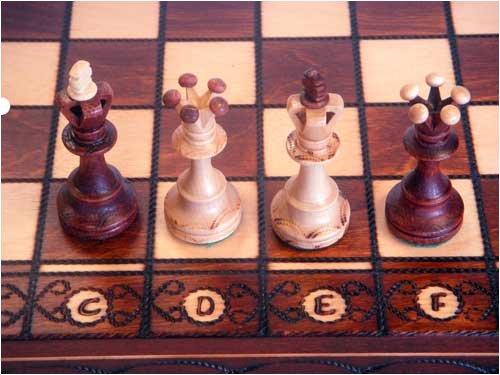 Senator European Hand Carved Chess Set - 3' King