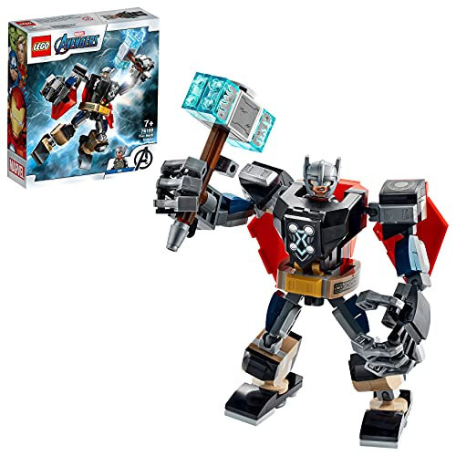 LEGO Super Heroes Marvel Avengers Armatura Mech di Thor, Giocattolo Action Figure con Minifigure di Thor, 76169
