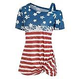 Women's July 4th American Flag Drape Cardigan Vest
