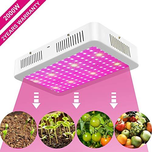 XECCON LED Pflanzenlampe 2000W, Pflanzenlicht Vollspektrum LED Grow Lampe Wachstumslampe Pflanzenleuchte für Zimmerpflanzen, Gemüse, Blumen, 192 LEDs