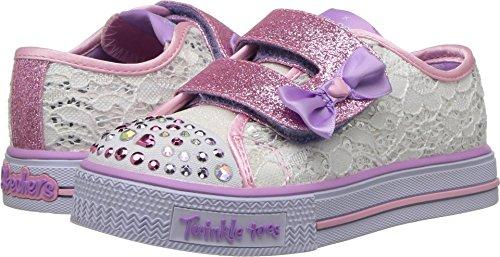 Skechers Twinkle Toes - Zapatos con luz, diseño de barcos y escalonados, color rosa, color, talla 27.5 EU