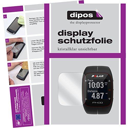 dipos I 6X Schutzfolie klar kompatibel mit Polar Trainingscomputer M400 HR Folie Bildschirmschutzfolie