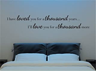 pegatinas de pared fluorescentes Te he amado durante mil años Te amaré por mil más para la cita de amor de un dormitorio