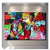 Rocky Vs Apollo Leroy Neiman Home Decor HD Impreso Pintura de arte moderno sobre lienzo Pintura de arte de pared sin marco por números-50x100cm Sin marco