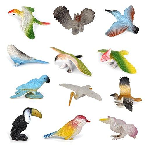 rosenice kunsts SmartOffice de modelo pájaro figuras de colección figuras objekthaften Niños juguete 12unidades)