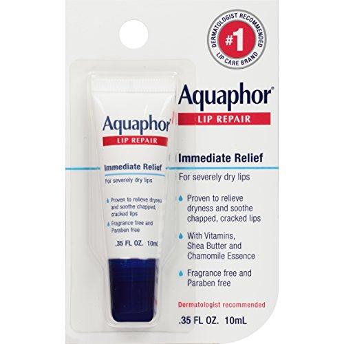 Aquaphor Lip Repair Ointment - Long-lasting Moisture to Soothe Dry Chapped Lips - .35 fl. oz. Tube