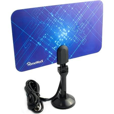 Mediasonic Homeworx HW110AN Super Thin Indoor HDTV Antenna 25 Miles Range