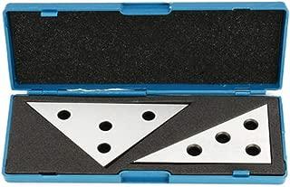 Chiloskit 2 Piece Set Professional Grade Angle Block Set Machinist Tool, 30-60-90 Degree & 45-45-90 Degree, Precision +/- 20 Seconds