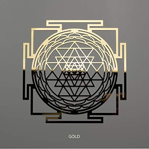 "ZenVizion 5.31"" Sri Yantra COPPER/GOLD color Stainless Steel, Soul Reminder, Sacred Geometry Hanging, Meditation Yoga Artwork, Home Decor Wall Art, Wall Sculpture, Wealth, Prosperity, Abundance, Car Hanger"