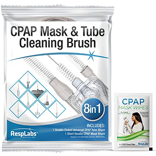 RespLabs CPAP Tube Brush. 8 in 1 System - Fits All CPAP Hose Type - Effective Cleaning, Hygiene Essentials, Optimal CPAP Therapy.