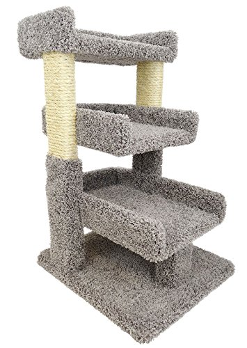 Solid Wood Large Triple Cat Perch
