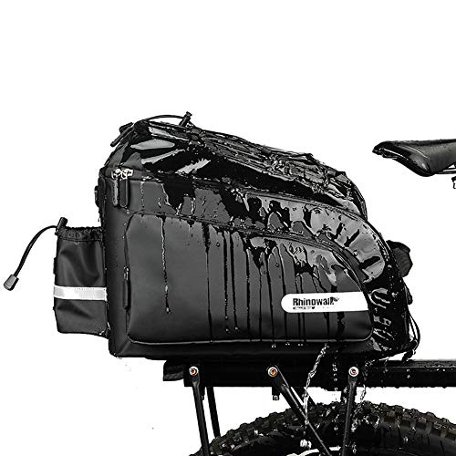 Alforjas Bicicleta Impermeable Bolsa Trasera Bicicleta Ciclismo Bolsa Accesorios de Bicicleta Bolsas de Bicicleta para la Parte Trasera Black,Free Size