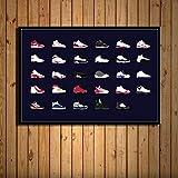 zxddzl Sneakers Michael Jordan Chaussures Mode AJ Art Peinture Murale décoration de la Maison 12 50 * 70