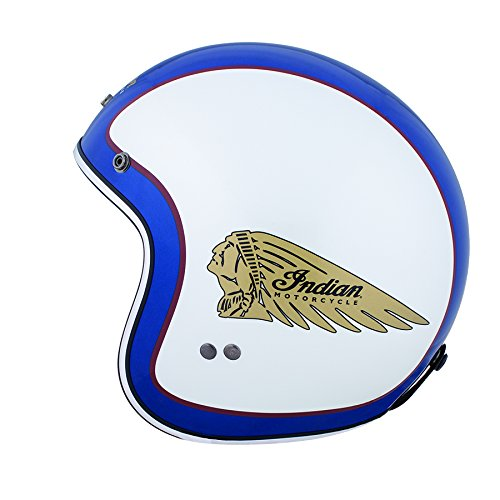 polaris Scout Open Face Helmet by Indian Motorcycle Blue/White (Large)