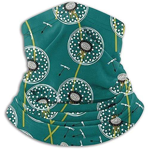 Hui-Shop Make A Dandelion Wish Scaldacollo Verde Ghetta per Uomo Donna Fascia per Capelli Viso m-Ask Sciarpa Copricapo Passamontagna Invernale