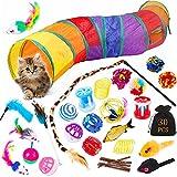 Giocattoli per Gatti,Gatto Giocattoli Interattivi,30 pezzi Gatto Giocattoli Interattivi Gioco,Giocattoli Interattivi per Gatti con Tunnel per Gatti,Giochi per Gatti,per Gattino Kitten Indoor